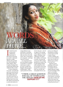 Sharanya Manivannan Femina 1
